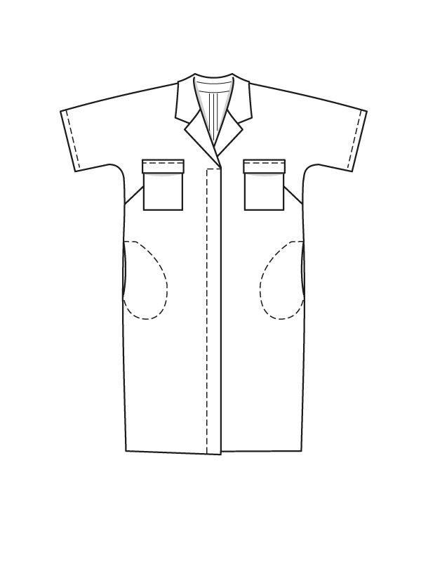 Платье-рубашка - выкройка № 126 А из журнала 8/2015 Burda – выкройки платьев на Burdastyle.ru