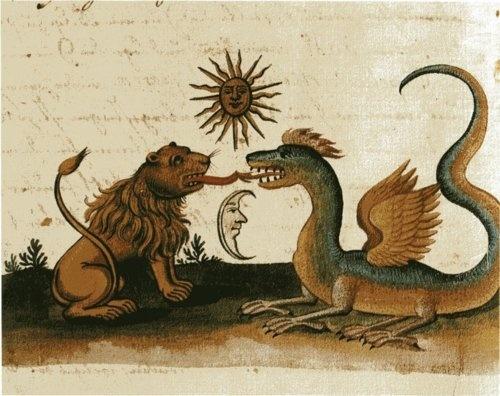 lunar-danse:    18th century manuscript illustrated by Zoroaster & Clavis Artis