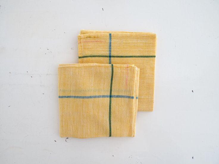 Image of yellow khadi napkins
