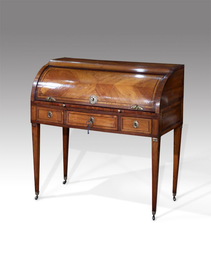 bureau and secretaire 18th century french tulipwood cylinder bureau the quarter veneered. Black Bedroom Furniture Sets. Home Design Ideas