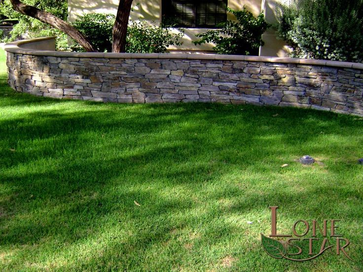 Natural Stacked Stone Veneer On Wall In Paradise Valley, AZ.    Www.lonestaraz