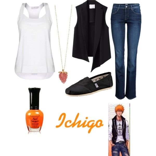 Ichigo form bleach by wintergirl13 on Polyvore featuring STELLA McCARTNEY, 3.1 Phillip Lim, ONLY, TOMS, women's clothing, women's fashion, women, female, woman and misses
