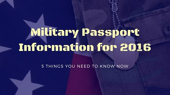 Military passport information for 2016