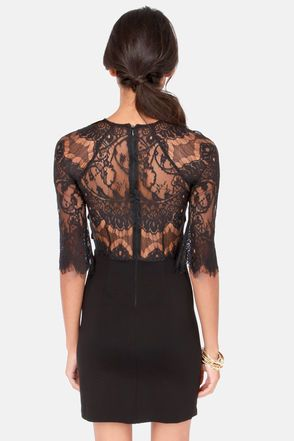 BB Dakota Princeton Black Lace Dress