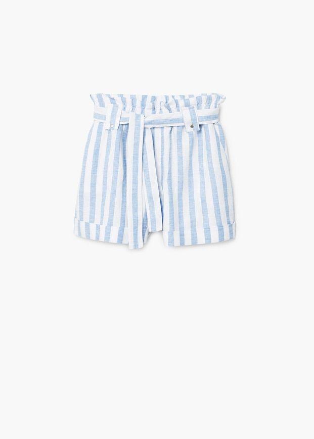 Linnen Korte Broek Dames.Bedrukte Linnen Shorts Dames Fashion Printed Shorts Shorts En