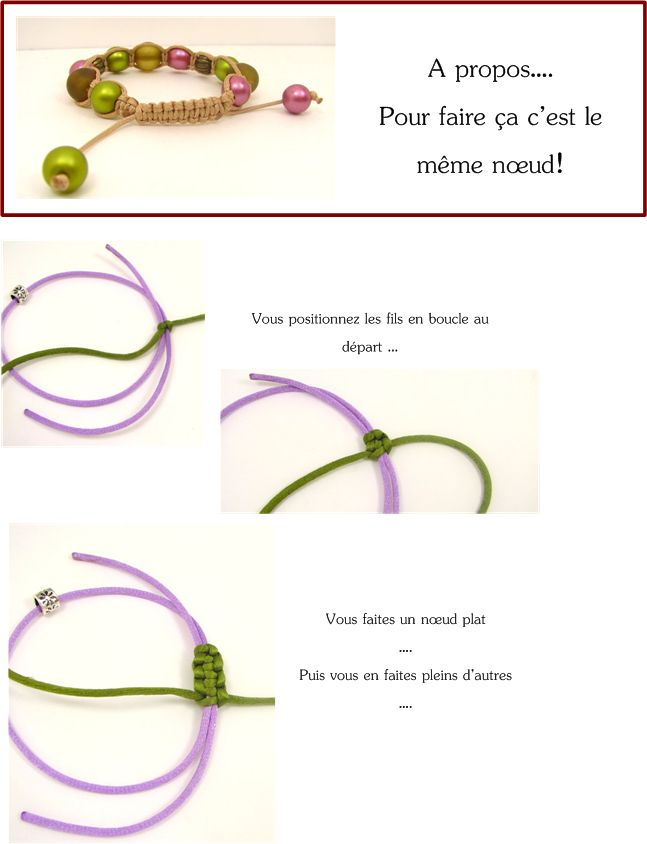 fermeture bracelet noeud coulissant