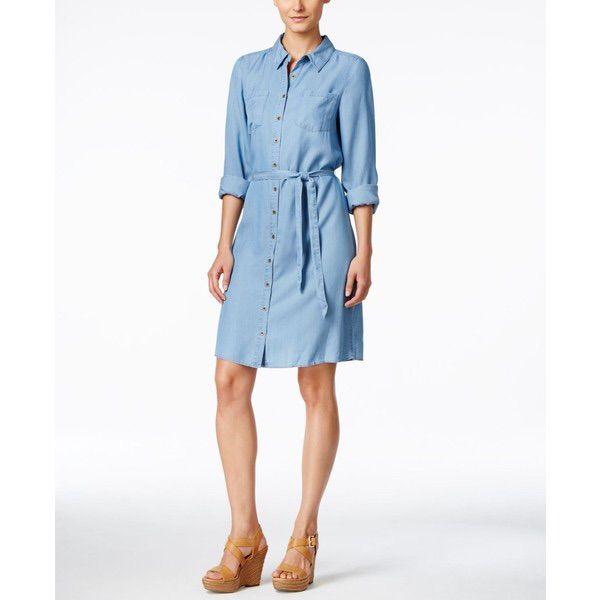 G.H. Bass & Co. Chambray Shirt Dress
