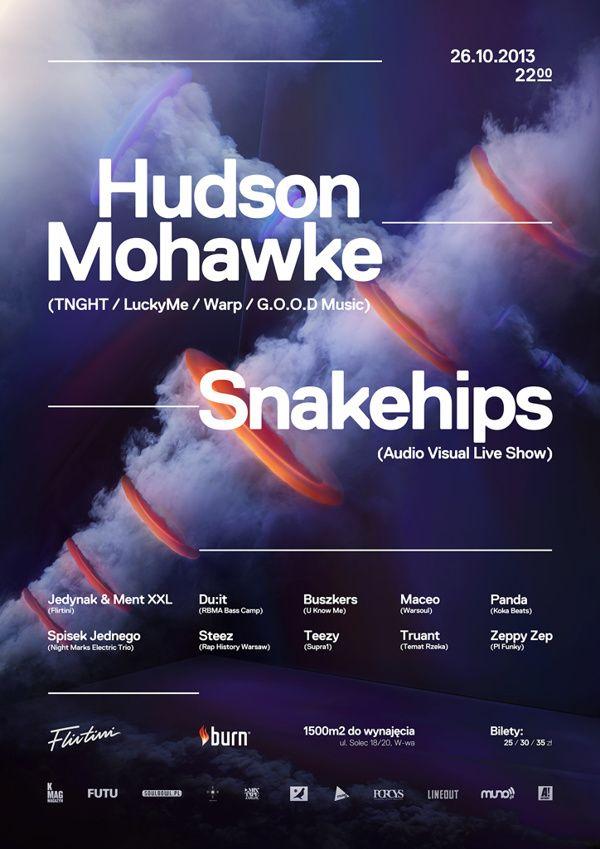 Flirtini x Hudson Mohawke / Snakehips Poster on Behance