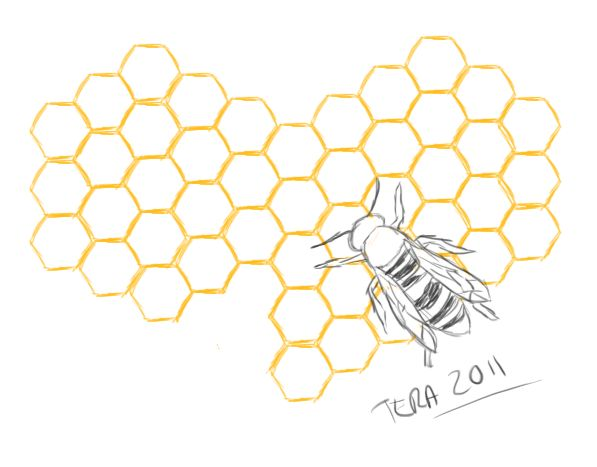 1fe2943ed Honeycomb heart and bee design. Similar to what I have been thinking for my  shoulder, only I want mine smaller. | Inspirational ink | Honeycomb tattoo,  ...