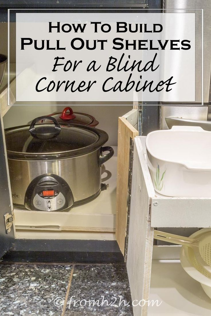 how to build pull out shelves for a blind corner cabinet. Black Bedroom Furniture Sets. Home Design Ideas