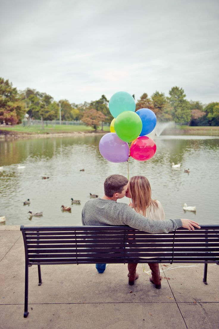 fun engagement photo ideas engagement photos with balloons, park, nature ANNA SMITH PHOTOGRAPHY