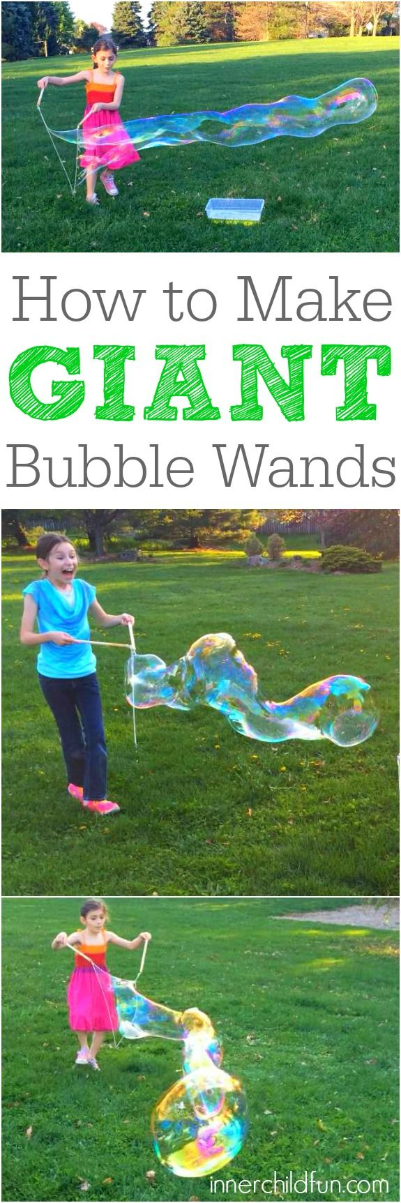 How to Make Giant Bubble Wands -- so cool!!