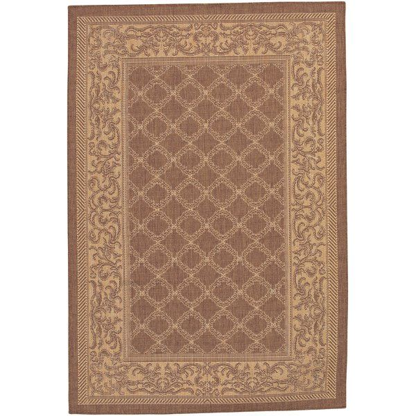 Marvelous The Bay Isle Home Southard Cocoa Natural Indoor Outdoor Area Rug makes for a lovely addition to any home that has global inspired interiors