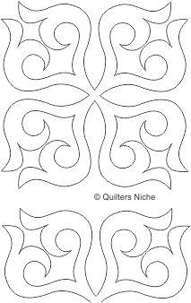 SCF-351 Scrollwork Block quilting design