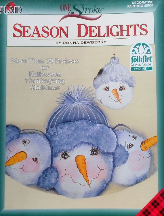 Plaid Donna Dewberry One Stroke SEASON DELIGHTS Tole Decorative Painting Project Book on Etsy, $9.75