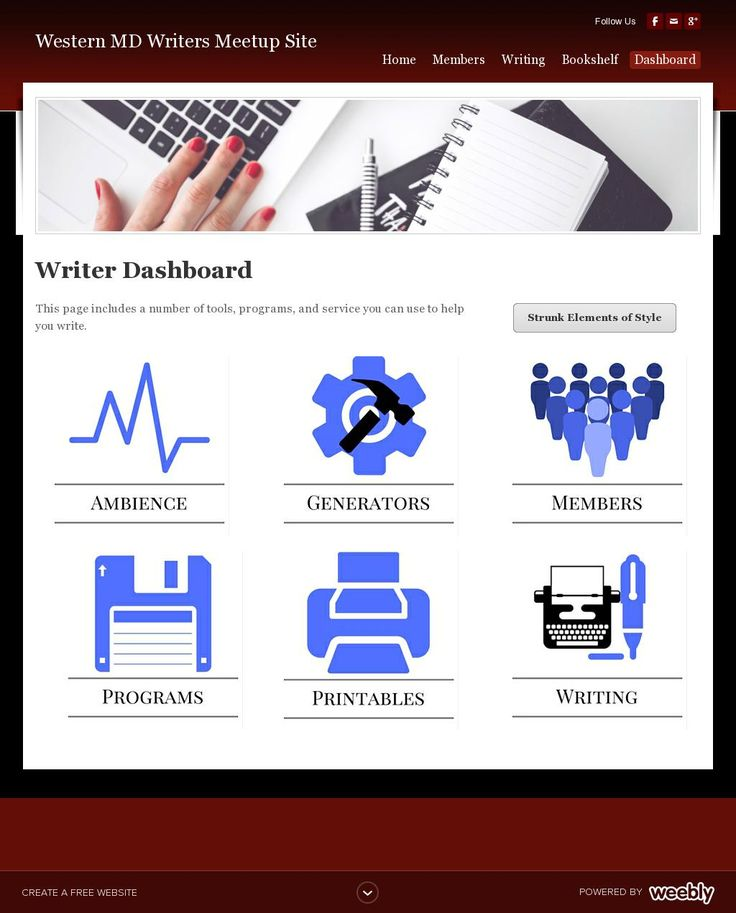The website 'http://westernmdwriter.weebly.com/dashboard.html' courtesy of @Pinstamatic (http://pinstamatic.com)