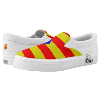 #Catalan flag Slip-On sneakers - #womens #shoes #womensshoes #custom #cool
