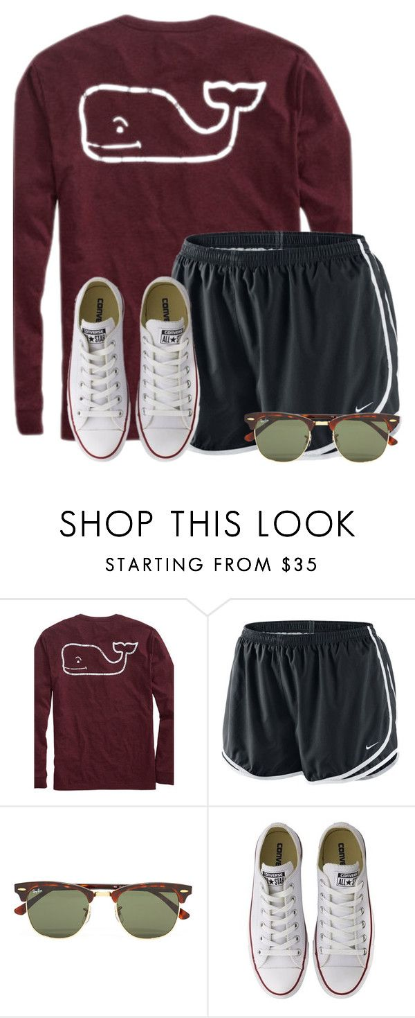"""Just ordered this shirt!"" by flroasburn on Polyvore featuring NIKE, Ray-Ban and Converse"