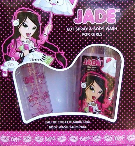 Bratz Jade by Bratz, 2 piece Gift Set for Girls by Bratz. $12.88. Product:Bratz Jade. Design House:Marmol & Son. Bratz Jade 2 piece Gift Set for Girls includes: a 1.7 oz Eau de Toilette Spray and an 8 oz. Body Wash. The BRATZ fragrance concept delivers the same style, personality, and fashion sense you find in this blockbuster brand.