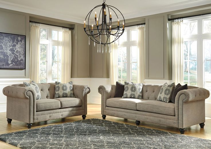Jennifer Convertibles: Sofas, Sofa Beds, Bedrooms, Dining Rooms & More! Azlyn Sepia Loveseat & Sofa