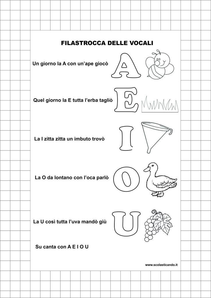 Classe prima, italiano: riconoscimento delle vocali