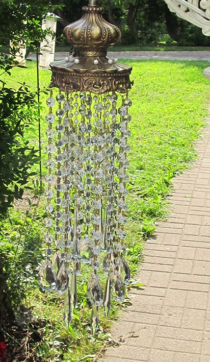 crystal wind chime sun catcher. by Leah. Sold.
