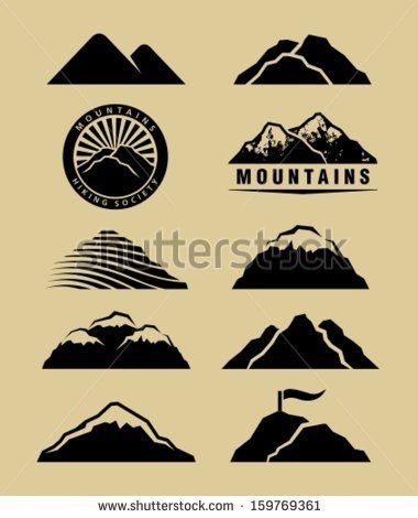 Mountain icon Stock Photos, Images, & Pictures | Shutterstock