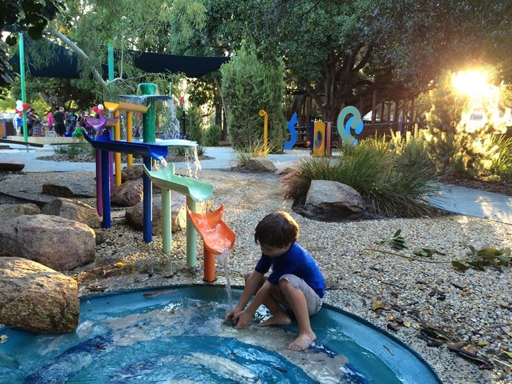 Mueller Playground Subiaco. The perfect playground for toddlers & preschoolers with lots of sensory play and a water play feature!