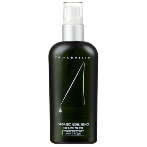 Dr. Alkaitis Organic Nourishing Treatment Oil with Rosehip, Ashwagandha and White Sandalwood nourishes dry and damaged skin, while infusing antioxidants.