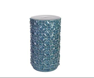 Taburete Blanche, azul - altura 47,5 cm