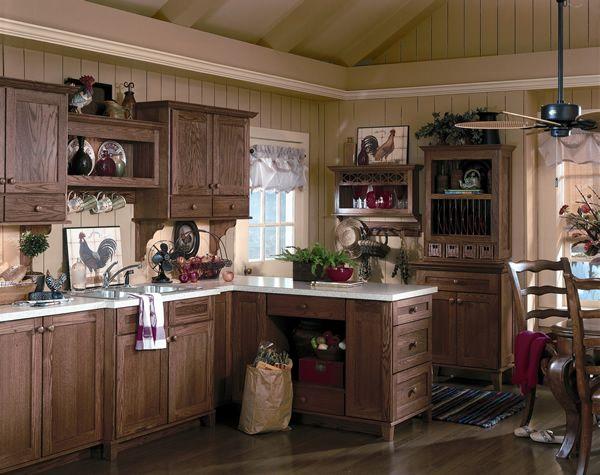 The 25 best Dark oak cabinets ideas on Pinterest Kitchen tile