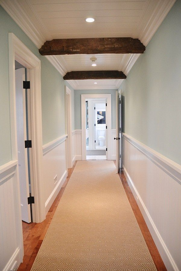 interesting beams in hallway, have not seen that before, HGTV Dream Home 2015 -