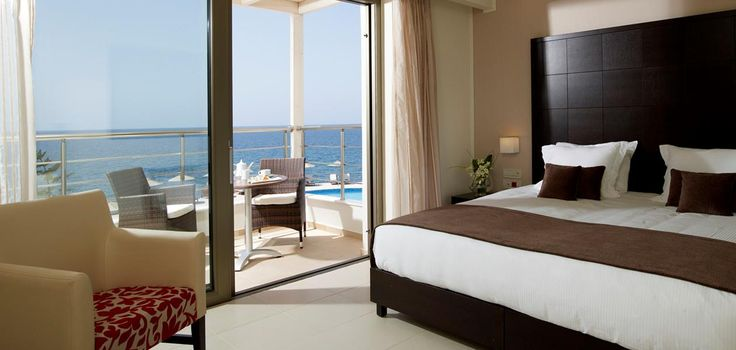 Superior Guestrooms - Sea View in Crete: luxury accommodation rethymnon crete