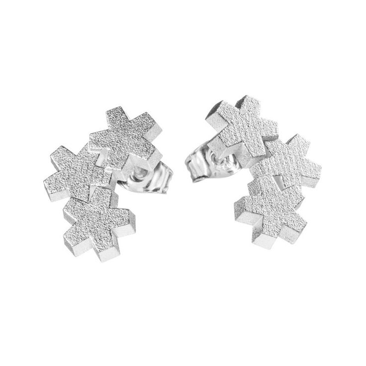 Kalevala Jewerly / Luminous White Earrings