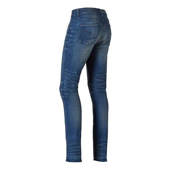 G-Star RAW 3301 Contour High Skinny jeans ❤ liked on Polyvore featuring jeans, super stretch jeans, blue jeans, stretchy skinny jeans, g-star raw and 5 pocket jeans