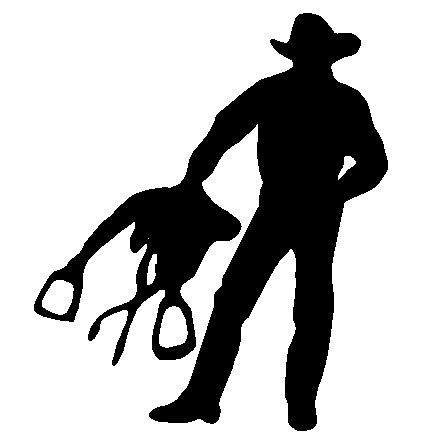 cowboy/saddle silhouette