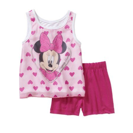 6693ad99821 Minnie Mouse Little Girls  Swing Tank and Short 2pc Set