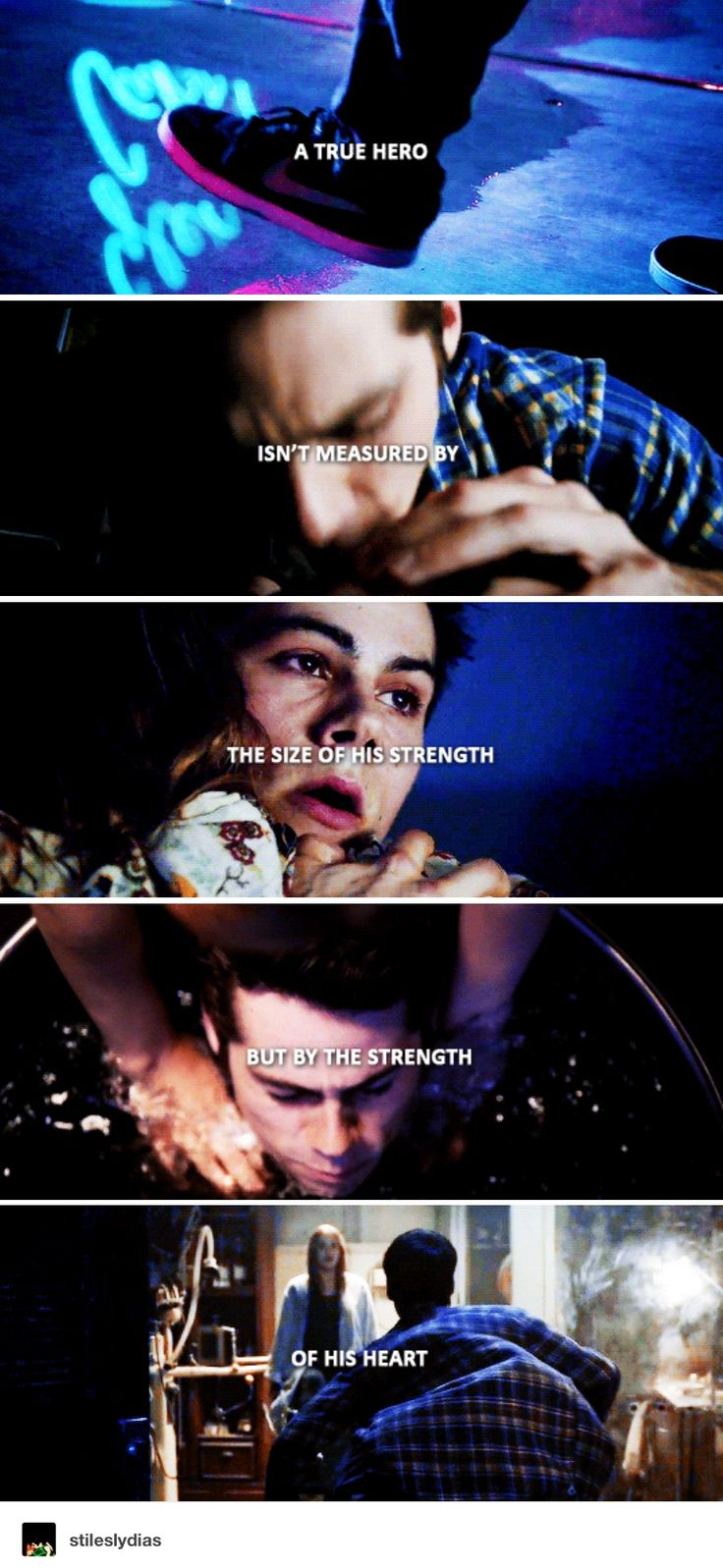 Teen Wolf - stiles stilinski - I'm not a hero, dad.