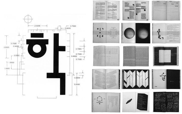 Né en 1952 à Chungju, l'artiste, graphiste, designer, typographe Ahn sang soo est célèbre pour avoir su moderniser le hangul tout en respectant ses caracteristiques traditionnelles. Il est le chef de file de la nouvelle génération de graphistes coréens.