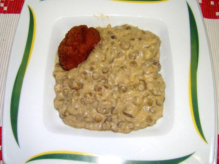 Tejfölös lencsefőzelék recept