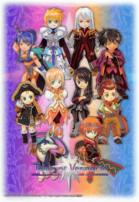 Tales Of Vesperia Clear Plate Tales Of Vesperia Jumbo Carddass