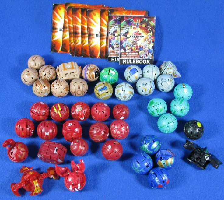 Lot of 42 Bakugan Toys Battle Brawlers Figures Balls & 21 Misc. Cards #Bakugan