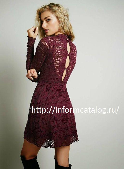 платье - филейное вязание