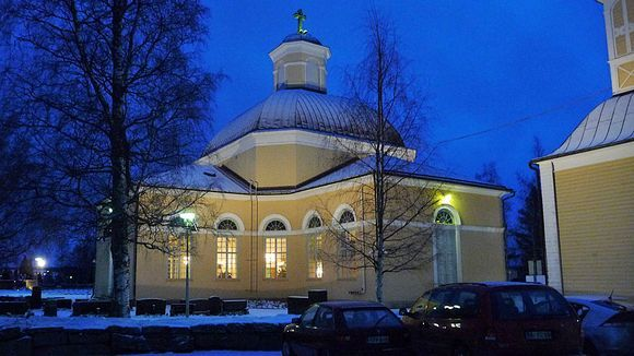 Lutheran church in Kurikka. Finland.