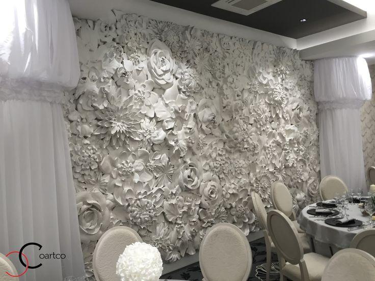 Panou decorativ 3D din polistiren CoArtCo pentru saloane de evenimente si nunti