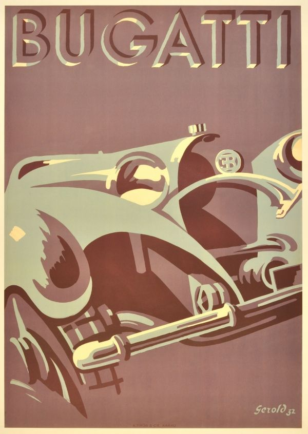 Bugatti #vintage #poster