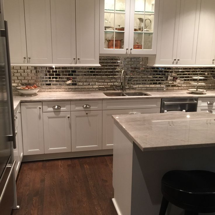 Mirrored Subway Tile Kitchen Backsplash 2016