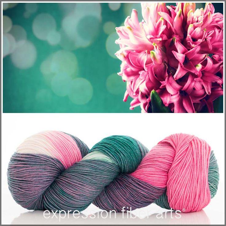 Expression Fiber Arts Yarn - PINK HYACINTH 'RESILIENT' SUPERWASH MERINO SOCK, $24.00 (http://www.expressionfiberarts.com/products/pink-hyacinth-resilient-superwash-merino-sock.html)