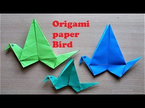 Making Origami Flapping Bird Step By