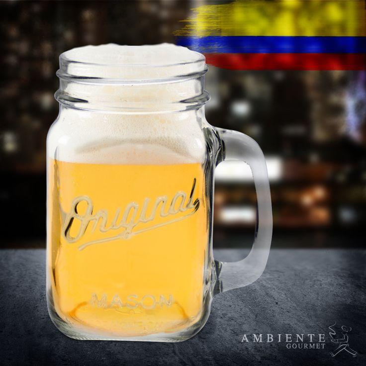 Apoya todos los partidos de la #seleccioncolombia con una helada cerveza en tu #masonjar